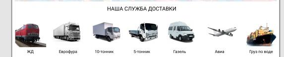 Наши службы доставки