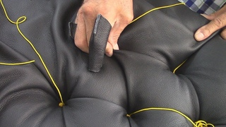 Diamond Tufting (capitonné) in Leather - Single Room Divider - Part 4 Upholstery/furniture