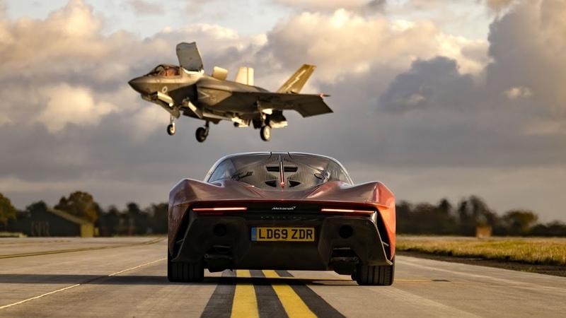 PREVIEW F35 Jet vs McLaren Speedtail Top Gear