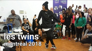 Les Twins Montreal workshop after party | Larry's freestyle Jason Click