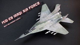 Mikoyan-Gurevich MiG-29b Iraqi Air Force 1/72 Trumpeter Plastic Model Kit Full Video Build