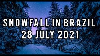 На Бразилию обрушился снегопад 28 июля 2021 года | катаклизмы сегодня | катаклизмы