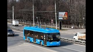 Поездка на Химкинском троллейбусе Тролза «Мегаполис» №0034 №1 Улица Дружбы-Стадион Родина
