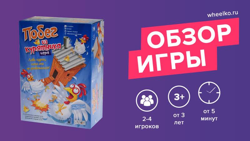 Настольная игра Побег из курятника краткий обзор от магазина Wheelko