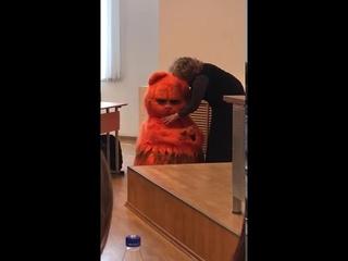 Студент ради зачёта пришёл на пару в костюме котика