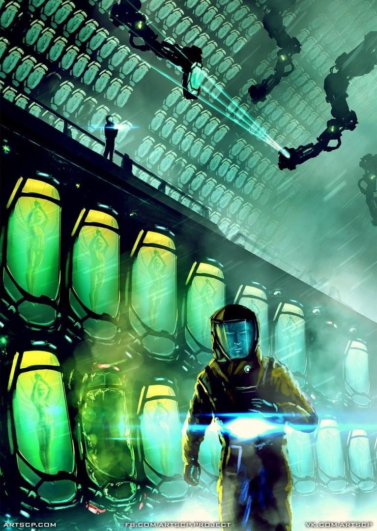 SCP-2000, Deus Ex Machina — «бэкап» цивилизации, созданный Фондом на случай гибели человечества. Художник — Павел Кобызев; иллюстрация создана в рамках арт-проектаARTSCP