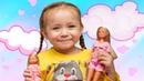 Видео для девочек. Распаковка нового Набора кукол Штеффи и Еви Время умываться от Даши 🌼DARIA STAR