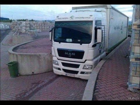 Дальнобойщики профи. Как паркуют фуры. Заезд грузовика на склад.