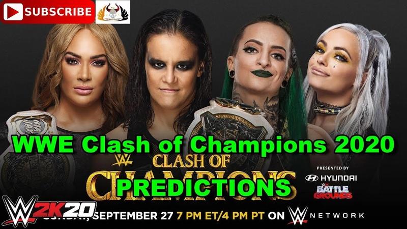 WWE Clash of Champions 2020 Women's Tag Team Championship Nia Jax Shayna Baszler vs Riott Squad