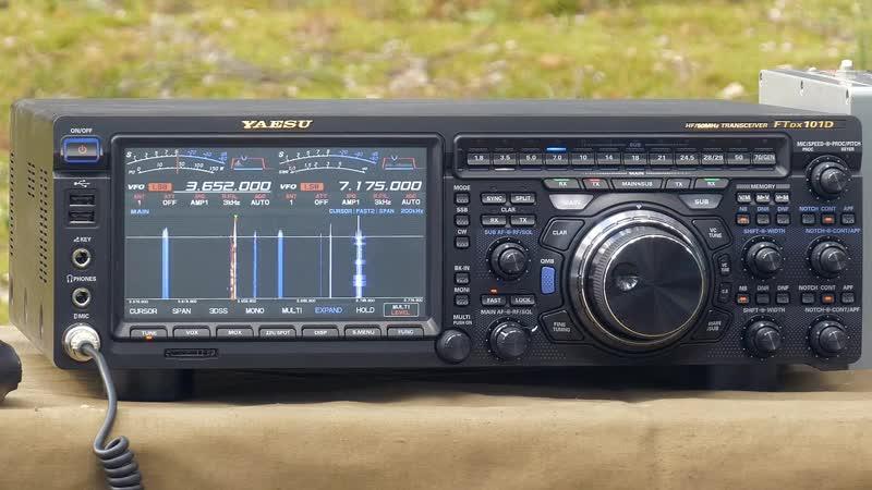 Радиоканал с Алексеем Игониным Yaesu FTdx101D Работа трансивера в полях Приём разных сигналов Радиосвязь