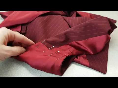 Sewing facing and lining for the vest