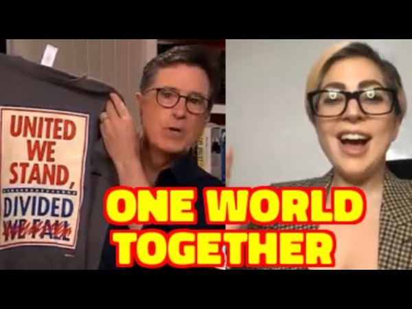 Look at what Lady Gaga Stephen Colbert Want