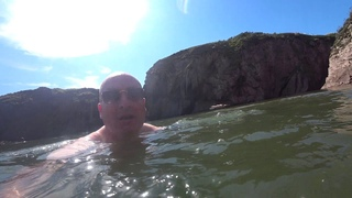 I gatecrash the private pool on Burgh Island. Join me in this mess