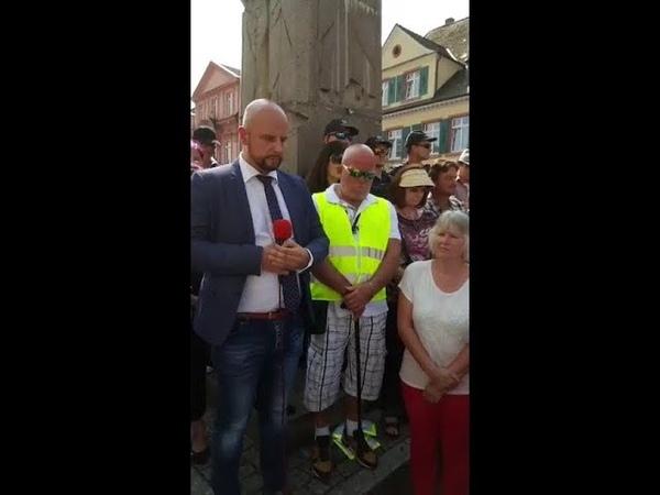 AfD Demo für ermordeten Arzt in Offenburg u a mit Reimond Hoffmann Stefan Räpple 18 08 218