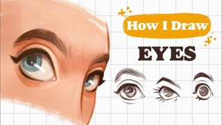 How I DRAW EYES step by step   Mistakes & tips   Procreate   👽