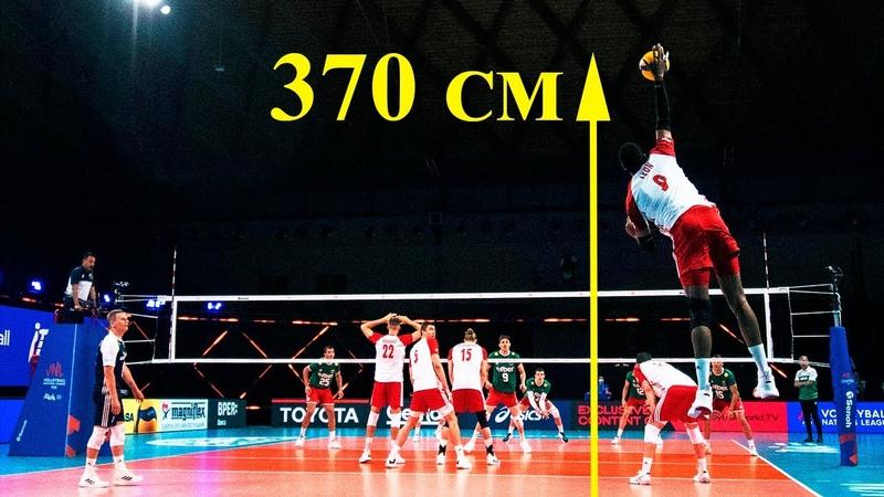 Highest Jump EVER Legendary Volleyball Player Wilfredo Leon 370 Cm Vertical Jump HD