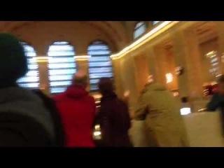 Justin Bieber at Grand Central