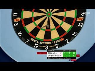 Dave Chisnall vs Jeffrey de Zwaan (PDC World Darts Championship 2020 / Round 3)