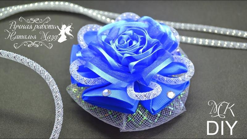 Канзаши Нарядные БАНТЫ МК Hair Bows KANZASHI Ribbon Flowers TUTORIAL LAÇOS DE FITA