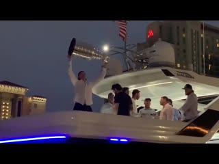 I'm on vacation in Tampa. Just stumbled upon the Stanley Cup and Andrei Vasilevskiy party