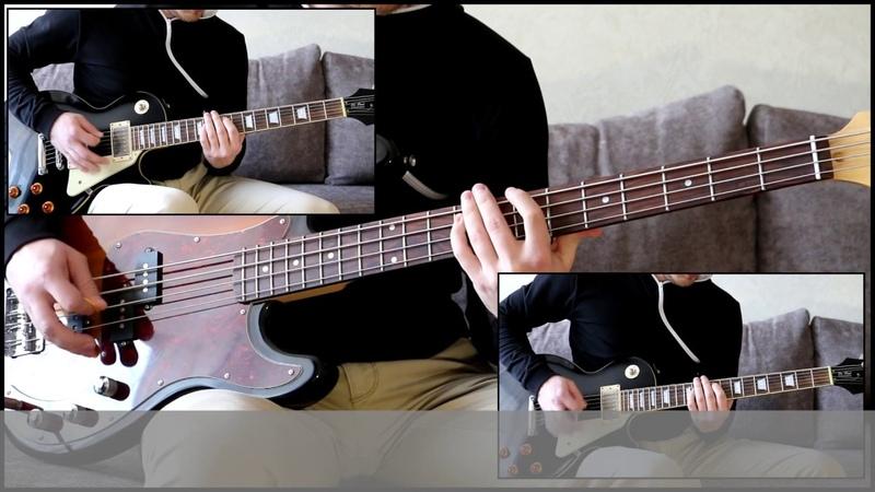 Как играть на бас гитаре Он не знает что такое жить Король и шут видеоурок Guitar riffs табы
