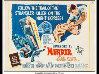Murder She Said (1961)  Margaret Rutherford, Arthur Kennedy, Muriel Pavlow