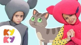 КУКУТИКИ - Киса Кошка - Детская песенка мультик про Кошечку для детей малышей - Funny Kids Song
