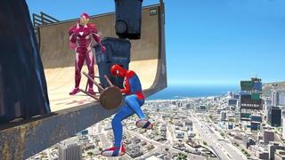 GTA 5 Gameplay Ragdolls Spiderman VS Girl (Euphoria Physics Fails and Funny Moments)