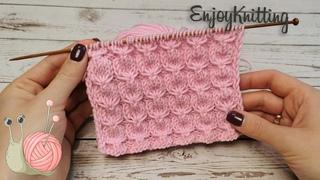 КРАСИВЫЙ Рельефный узор спицами ЗЕФИРКИ    How to knit Beautiful air stitch pattern
