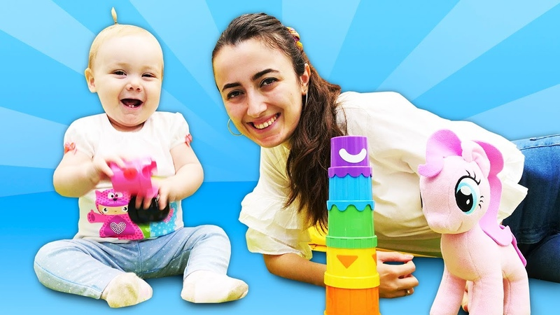 Pinkie Pie kule yapıyor Renk oyunu Bebek videosu