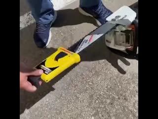 Как заточить цепь на бензопиле не снимая