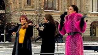 Анастасия Прокошева +Band. Доброе утро. Первый канал. «Я тебя подожду»(А за окном то дождь, то снег)