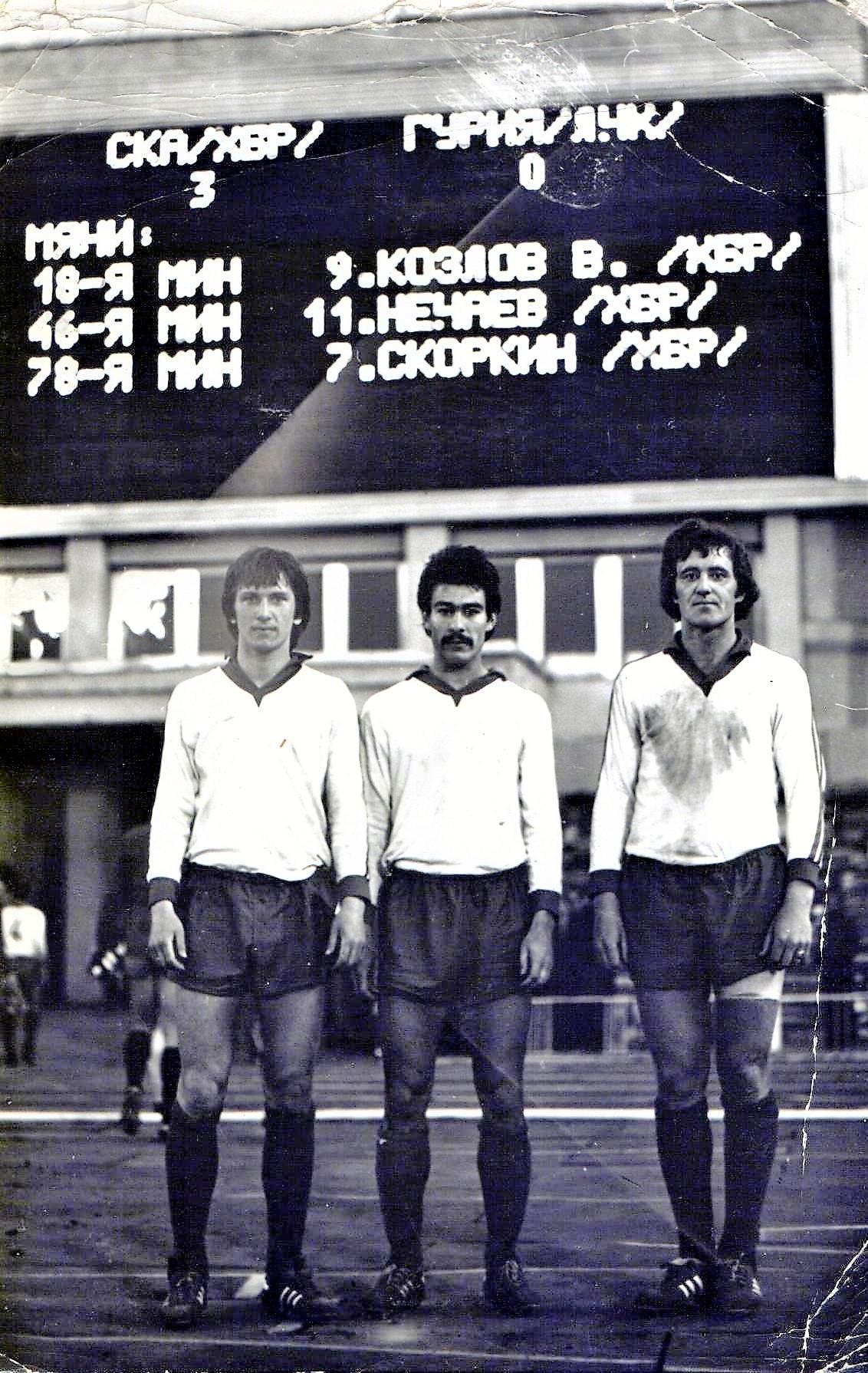 Три армейских «мушкетёра» - Олег Скоркин, Сергей Нечаев, Владимир Козлов. Год 1983-й
