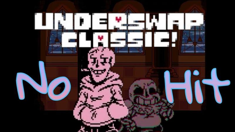 No Hit Underswap CLASSIC Papyrus Full Battle Undertale Fan Game