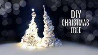 Glowing Macrame Christmas Tree 3D Home Decor DIY Idea