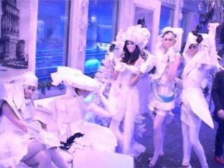 totally white paper dresses by Hofl studio