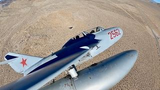 MIG 15: Panne hydraulique en avion de chasse dans le désert du Mojave - LOW FUEL HELICOPTER LIFE