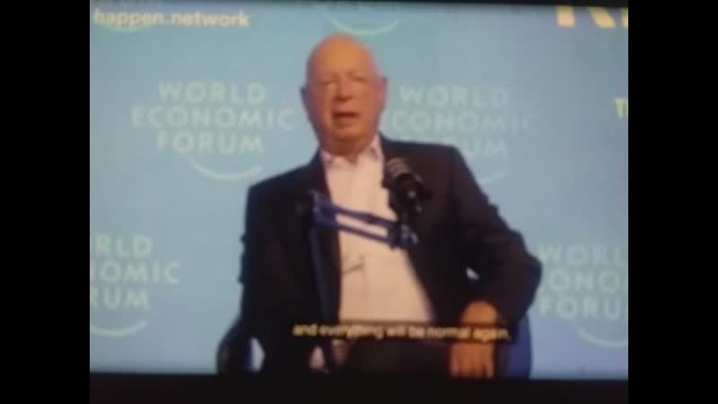 Evil UN World Economic Forum leader Klaus Schwab's says things won't go back to normal