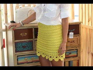 Юбка крючком по мотивам Алзиры Виейра, часть 1 (основная часть юбки)  crocheted skirt part 3