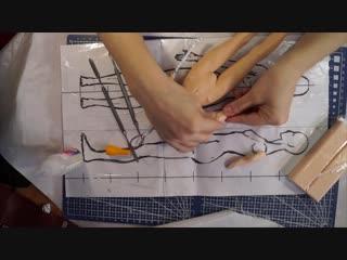 Шарнирная кукла своими руками с нуля часть 5 как лепить руки