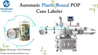 Plastic Round POP Cans Automatic Self-adhesive Non-dry Sticker Labeling Machine