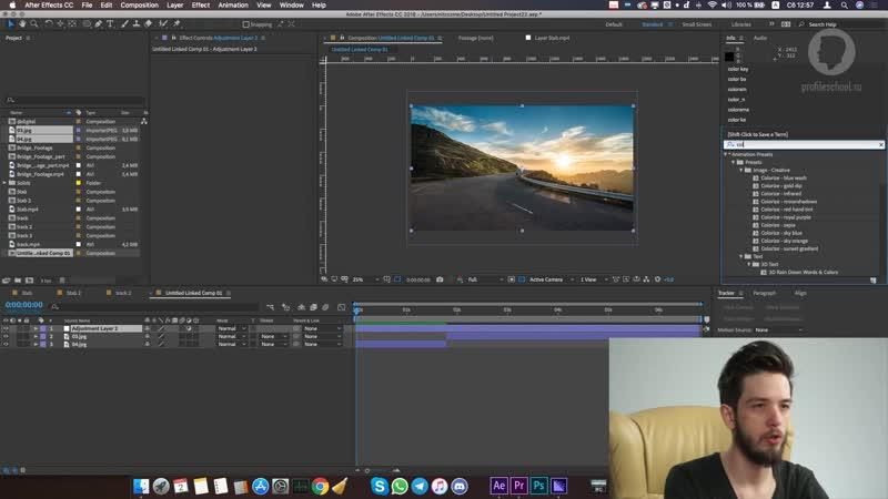 Никита Чесноков Adobe After Effects Базовый уровень Гибридный курс Связка АЕ Premiere Pro