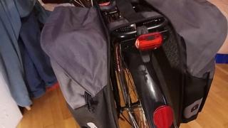 Сумки на задний багажник от Декатлон