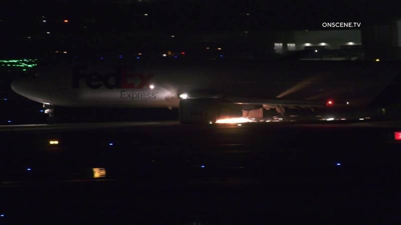 FedEx Aircraft Performs Emergency Landing Caught On Camera