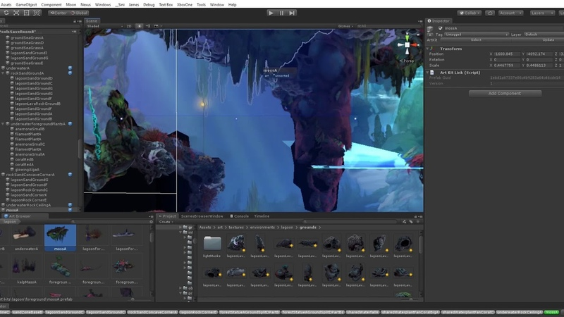 Ori and the Will of the Wisps making of Level Art for Luma Pools Scene A