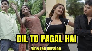 DIL TO PAGAL HAI - Vina Fan Version Parodi India - Shah Rukh Khan - Madhuri Dixit