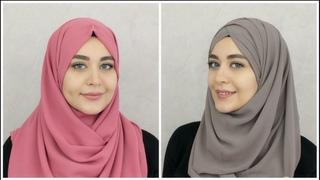 2 New Chiffon Hijab Tutorials | Muslim Queens by Mona