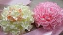 Большие цветы из атласной ленты/Бант на выписку из роддома/Новые изделия с BeeBeecraft