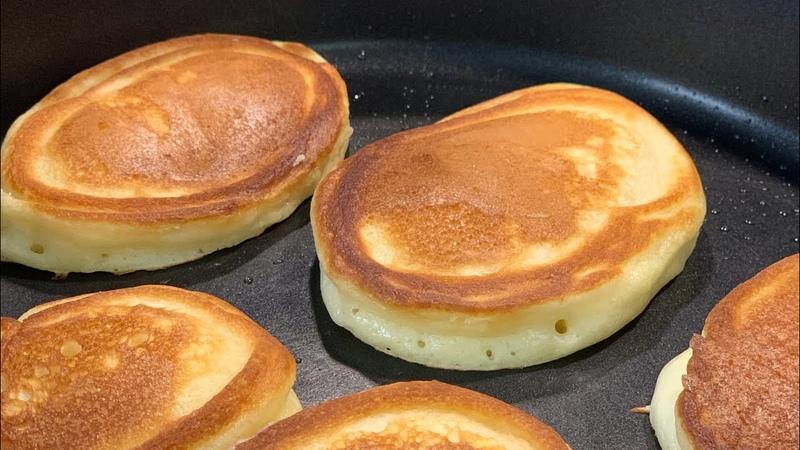 Пышные Оладьи подробный рецепт Оладушки на сметане Что приготовить на завтрак