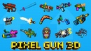 Pixel Gun 3D Damage Test - ВСЁ ОРУЖИЕ UPDATE 18.1